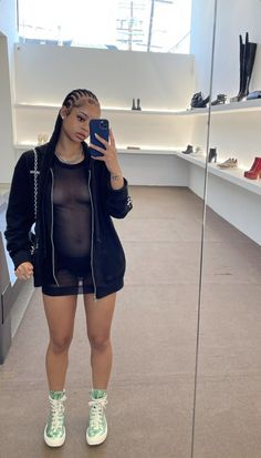 Dope Outfits, Street Style Women, Braided Hairstyles, Attitude, Braids, Ootd, Hair Styles, Womens Fashion, Fitness