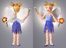 3-D Flower Fairy Doll Beading Pattern by Ruth Kiel at Bead-Patterns.com