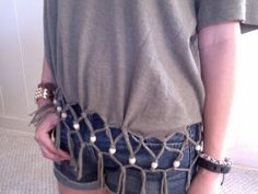 DIY Clothes DIY Refashion: Fish Net Top with Wood Beads