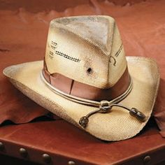 Cowboy Hat with a Genuine Bullet Hole!