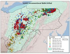 - Fracking wells drilled 2004-2015 in Pennsylvania West Virginia...