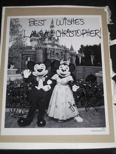 If you send an invitation to Mickey and Minnie they send back a photo