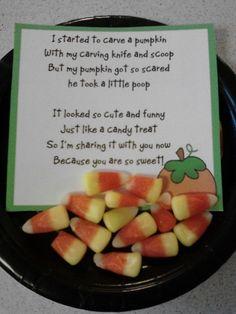 Pumpkin Poop...hahaha!