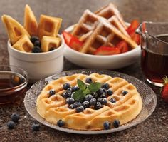 Basic Waffles Recipe - Find More Recipes for Waffle Bakers from Hamilton Beach Breakfast Waffles, Breakfast Items, Breakfast Bake, Breakfast Recipes, Pancakes, Hamilton Beach Waffle Maker, Recipe For Hollandaise Sauce, Waffle Mix, Waffle Iron