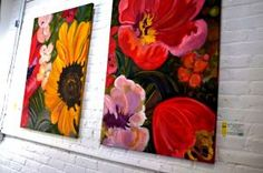 large floral paintings