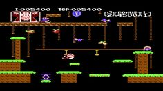 Donkey Kong Jr.  NES Level 2 Springboard Stage Walkthrough (Cheats)