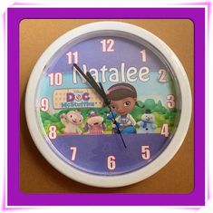 Personalized Doc Mcstuffins Wall Clock on Etsy, $19.99