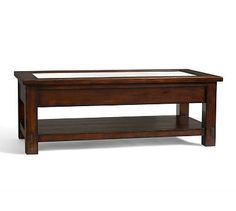 Benchwright Rectangular Display Coffee Table #potterybarn