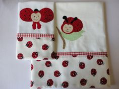 Enxoval de bebe - jogo de lençol com 3 peças, pode ser confeccionado para berço, mini berço ou mini cama Confeccionado por Maete Atelier teresi@globo.com