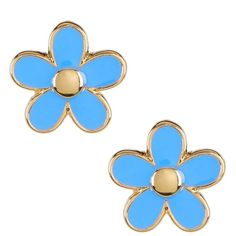 Marc by Marc Jacobs Daisy Stud Earrings ($23) ❤ liked on Polyvore featuring jewelry, earrings, conch blue, blue stud earrings, stud earring set, stud earrings, metallic jewelry and daisy stud earrings