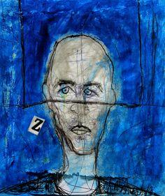 """"""" Soms ben ik zo """"   ( Gemengde techniek, papier, 18 x 20 cm )"""