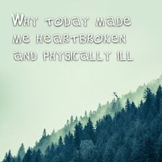 """""""Why today made me heartbroken and physically ill""""   Why today made me heartbroken and physically ill     http://www.lostandtired.com/2014/04/11/why-today-made-me-heartbroken-and-physically-ill/  #Autism #Family #SPD #SpecialNeedsParenting"""