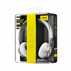 Jabra REVO HD Dolby Sound Foldable Wired On Ear Headphone Headset Headband White