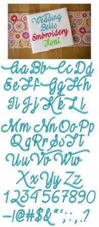 Wedding Bells Embroidery Font Designs by JuJu Machine Embroidery Designs Monograms Alphabets