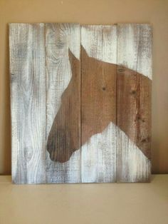 Horse Head Silhouette Handpainted on reclaimed by FordCountry . Horse Head Silhouette Handpainted on reclaimed by FordCountry More Source by ambrociopalacio. Arte Pallet, Horse Silhouette, Silhouette Painting, Diy Wood Signs, Pallet Signs, Painted Wood Signs, Rustic Signs, Horse Crafts, Barn Wood Crafts