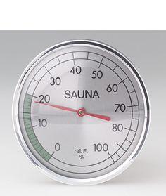 """Hygrometer:  round 4"""" Sauna Accessories, Cooking Timer"""