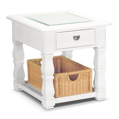 Accent and Occasional Furniture - Plantation Cove White End Table --- $229