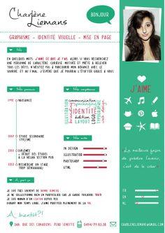 CV by Charlène Liemans, via Behance
