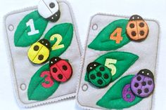 Felt ladybug counting and color matching by itsthesmallthings
