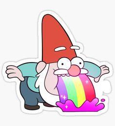 Rainbow Vomiting Gnome Sticker
