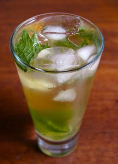 Trying this out soon <3 Recipe Review: Icy-Cool Green Tea Mojitos Straight Up Cocktails and Spirits