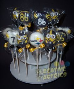 Pittsburgh Steelers cake pops