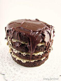 Chocolate Cookie Dough Cake recipe had this tonight.....so good!!