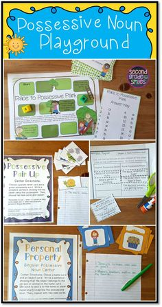 Learning singular and plural possessive nouns can be fun with these engaging activities! My 2nd graders loved the board game and sorting activities, and the task cards were a good way to assess their learning.