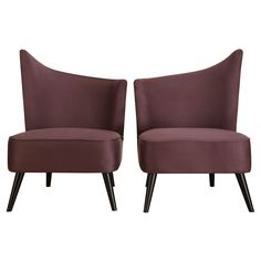Have to have it. Armen Living Elegant Accent Chair with Flaired Back - Purple Microfiber - $445.5 @hayneedle