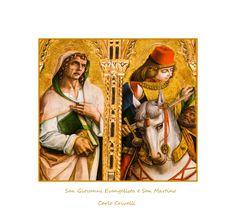 San Giovanni Evangelista e San Martino opera di Carlo crivelli