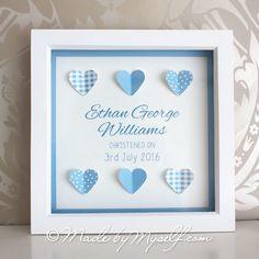 Christening Gift. New Baby Gift. Baptism Gift. A lovely heart design…