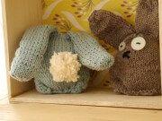 Little knitted easter bunnies - Handmade Kultur