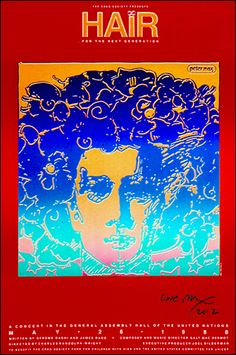 34 x 24 inches © Peter Max - 1988 * Posters sold signed and dedicated only. * Dedications must include a name(s).