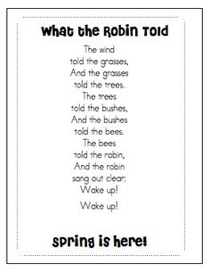 Poem: A poem about spring even though May is considered late spring.- Amanda Johnson