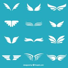 White wings collection Free Vector