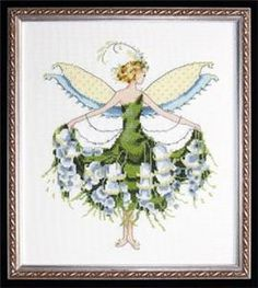 Lily Of The Valley-Spring Garden Cross Stitch Pattern (NC129) Embroidery Patterns by Nora Corbett