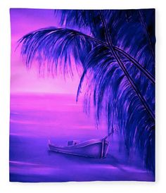Tropical Art Print featuring the painting Boat At Sunset by Faye Anastasopoulou Sunset Canvas, Sunset Art, Sunset Colors, Fine Art Posters, Wall Art Prints, Canvas Prints, Thing 1, Tropical Art, Artist At Work