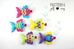 Felt Fish Pattern - Fish Sewing Pattern  - Sewing Patterns at Makerist