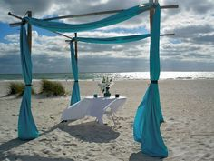 Our bamboo arch with sand ceremony
