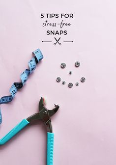 Tilly and the Buttons: 5 Tips for Stress-Free Snaps Sewing Hacks, Sewing Tutorials, Sewing Tips, Sewing Ideas, Sewing Projects, Diy Candles With Flowers, Chalk Pencil, Sew Your Own Clothes, Diy And Crafts Sewing