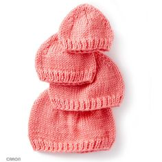 How to knit hats for babies - free knitting patterns - cute gift ideas for a bab. : How to knit hats for babies – free knitting patterns – cute gift ideas for a baby girl – knitting tutorial Knitting For Charity, Baby Hats Knitting, Knitting For Kids, Free Knitting, Knitting Projects, Knitted Hats, Newborn Knit Hat, Newborn Hats, Knitting Tutorials