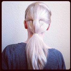 """Trying to step up my pony game with a """"triple-decker"""" look. #SephoraSelfie #Hair #Blonde"""