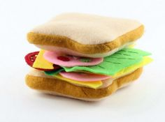 This cute Felt Toy Sandwich set will stimulate your little ones' imagination and guarantees endless hours of play. It's easy and gratifying to make felt food, and you'll love its very realistic look. This DIY felt food is safe for children, colorful, soft, and long-lasting. You'll adore sewing with felt when you make this classic, basic toy.