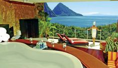 Love that our Eternity tub at Jade Mountain, St Lucia, is included in a '25 Best Hotel Bathrooms' article!