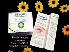 Enter to win a Simple Skincare Moisturizer & Eye Treatment at diaryofatrendaholic.com
