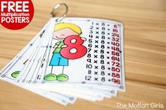 Free Multiplication Posters!  Use these full-sized and miniature posters to help your students master their multiplication facts!