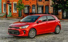 Download wallpapers kia rio, 2018, red rio, New cars, hatchback, Korean cars, kia