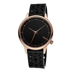 KOMONO Womens Estelle Cutout Quartz Stainless Steel and Leather Dress Watch ColorBlack Model KOMW2651 -- Read more at the image link. (This is an Amazon affiliate link)