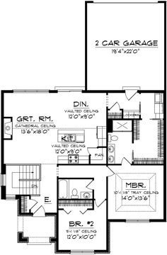 Take out the stairway, make the front porch bigger, small entryway - Modern Best House Plans, Small House Plans, House Floor Plans, Tiny Home Floor Plans, 2 Bedroom Floor Plans, Br House, Tiny House, Cottage House Plans, Cottage Homes