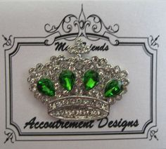 Accoutrement Designs Emerald Crown Needle Minder Magnet #AccoutrementDesigns